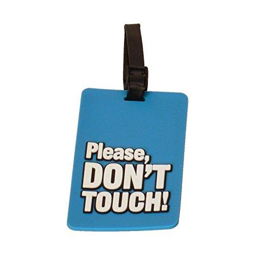 alltoshop Please don't touch! Gepäckanhänger in blau - Bitte nicht anfassen Kofferschild Finger weg Kofferetikett Reisen Gepäckidentifizierung