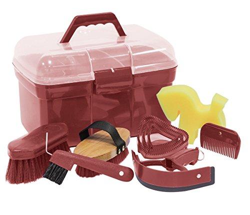 Putz Box Caja para pulir llenas con accesorios para caballos Color: Rostrot | empotrada (| Putz–Caja de limpieza con contenido