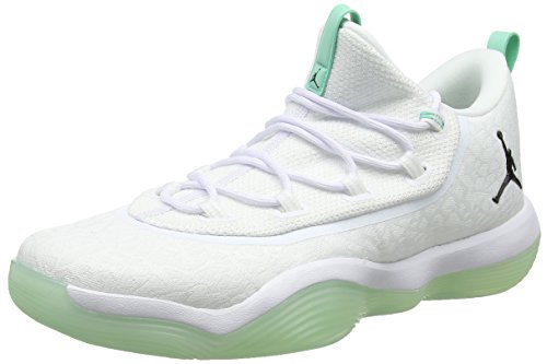Nike Herren Jordan Super.Fly 2017 Low Basket Basketballschuhe, Weiß (White/Black/Emerald Rise 117), 44.5 EU - Nike Basketball-schuhe Herren Flight