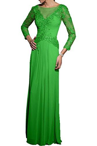 Milano Bride Grau Langarm Spitze Brautmutterkleider Abendkleider  Partykleider Schmaler Schnitt Chiffon Kleider Grün 29055d3860