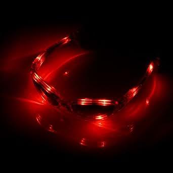 Lunettes de soirée Lunettes pour carnaval lumineuse LED rouges
