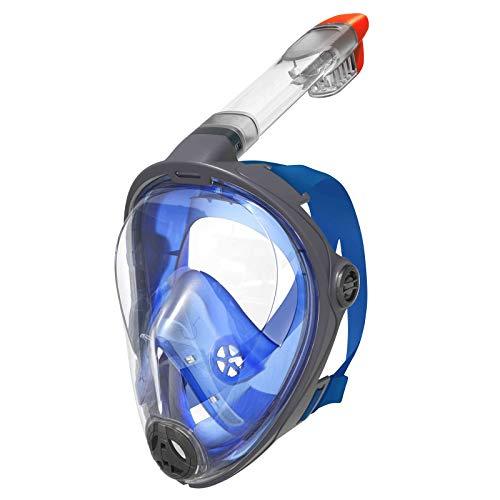 Best Sporting Tauchmaske Schnorchel-Maske Gesichtsmaske Dry Top System zum Schnorcheln + Tauchen, Größe L/XL