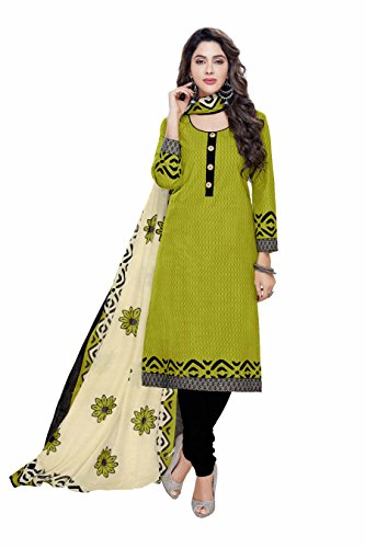 Miraan Printed Unstitched Cotton Dress Material And Churidar Suit For Women (2304)