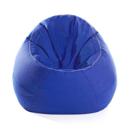 Ikoonz 10 1 01 01 2 06Sitzsack - The E.G.,Durchmesser 110x80x100 cm, aus hochverdichteter Baumwolle in blau