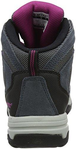 Hi-Tec Storm Waterproof, Stivali da Escursionismo Alti Donna Grigio (Graphite/cool Grey/boysenberry)