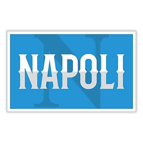 erreinge Sticker Napoli Ultras Supporter Adesivo Sagomato in PVC per Decalcomania Parete Murale Auto Moto Casco Camper Laptop - cm 35
