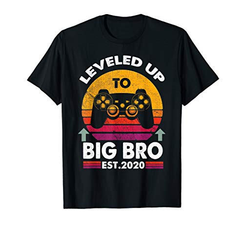 Leveled Up To Big Bro-Vintage Promoted to Big Brother 2020 T-Shirt -