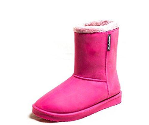 Bockstiegel Vanessa Warmfutter Stiefel Fellboots in Echtleder-Optik für Kids in vielen Farben (35, Fuchsia)