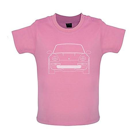 Porsche 993 Vorderansicht - Baby T-Shirt - Bubble-Gum-Pink - 12