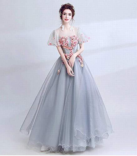 W-D Mode Farbe Hochzeit Split Zweiteilige Ärmel Brautkleid Weibliche Engel Bodenlangen Blumenkleid (Engel ärmel Brautkleid)
