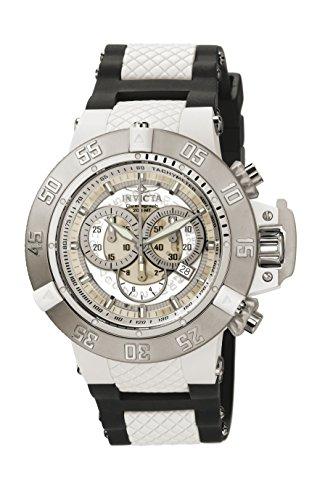 Invicta 0924 Subaqua - Noma III Reloj para Hombre acero inoxidable Cuarzo Esfera blanco