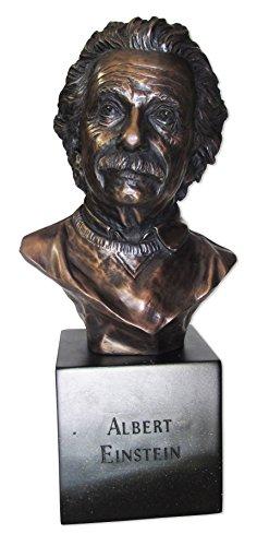 Bronze 4.25 (Blue Sky Deko-Büste Abraham Lincoln, Keramik, 31,8 x 16,5 x 12,7 cm, bronzefarben Einstein 6