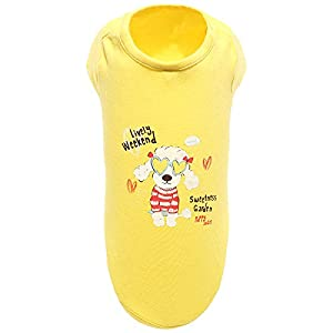 Puppy Angel Little Baby T-Shirt pour Chien Jaune Taille M/L