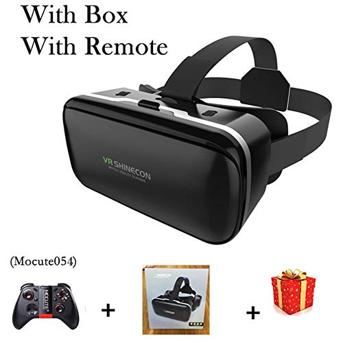 IN THE DISTANCE Brille-Kopfhörer-Sturzhelm VR 6.0 Casque Virtual Reality Glasses 3 D 3D Für Smartphone-Smartphone-Pappe (Color : with Box 054 Remote)