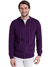 WoolOvers Pull à capuche et fermeture éclair - Homme - Cachemire & Coton