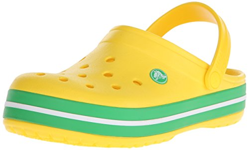 Crocs Unisex-Erwachsene Crocband Clogs, Gelb (Lemon-Grass Green), 46/47 -