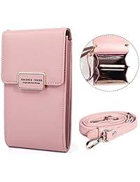2adb6835d6 [Grande capacità] Piccolo Borsello in vera pelle borsa del portafoglio  sacchetto del cellulare con