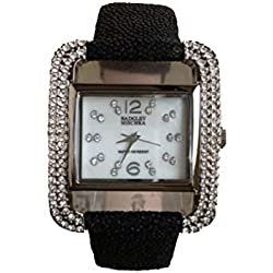 Badgley Mischka Ladies Watch Casual Analog Casual Quartz Watch BA-1083MPBK