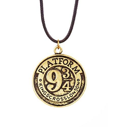Collana Binario 9 e 3/4 Hogwarts Express in BRONZO - Harry Potter HIGH QUALITY