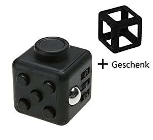 XY Life Fidget Cube Finger Spielzeug Gadget, gegen Stress (schwarz)