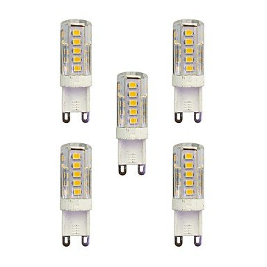 5pcs 2.5W 210 lm G9 LED à Double Broches T 33 diodes électroluminescentes SMD 2835 Blanc Chaud Blanc AC 220-240V ( Angle de Rayonnement : 360° , Connecteur : G9-Blanc chaud-220-240V )