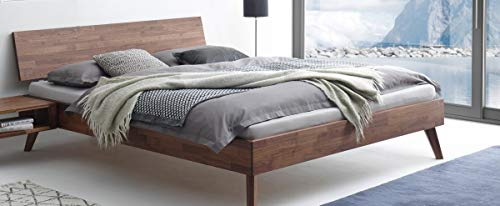 Hasena Fine Line Bett Ancona Nussbaum geölt 160x200 cm