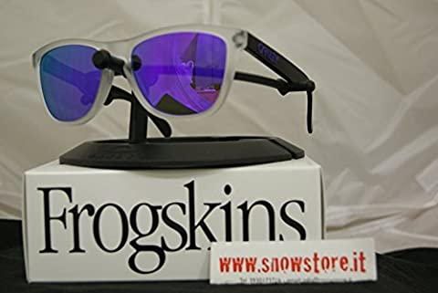 OAKLEY SPECIAL EDITION HERITAGE FROGSKINS MATTE CLEAR VIOLET IRIDIUM