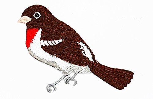 & weiß Bird Patch für Heimwerker-Applikation Eisen auf Patch T Shirt Patch Sew Iron on gesticktes Badge Schild Kostüm (Papagei Halloween-kostüme)