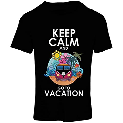 N4442F Camiseta mujer Keep Calm and Go to Vacation