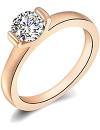 Vir Jewels–Anillo anillo de compromiso circonitas cristal antrag Anillo inoxidable lujo Rose Oro