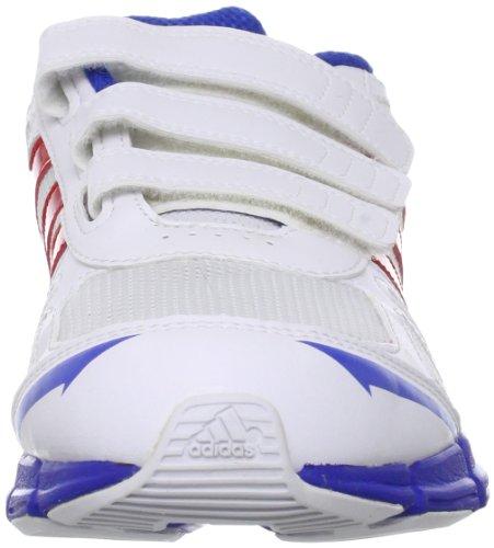 adidas Performance  Adifast CF,  Scarpe da corsa unisex bambino Bianco (Running White Ftw/Vivid Red S13/Satellite)