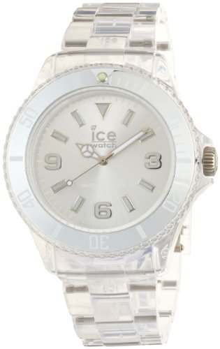ICE-Watch Pure Men's Quartz Watch with Silver Dial Analogue Display and Transparent Plastic Bracelet PU.SR.B.P.12