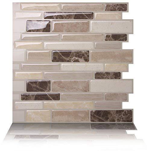 Tic Tac Tiles Anti Mold schälen und stecken Wand-Fliese Aufkantung In Polito Bella 10 10