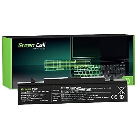 Green Cell® Standard Série AA-PB9NC6B AA-PB9NS6B Batterie pour Samsung R519 R522 R525 R530 R540 R580 R620 R719 R780 Ordinateur PC Portable (6 Cellules 4400mAh 11.1V Noir)