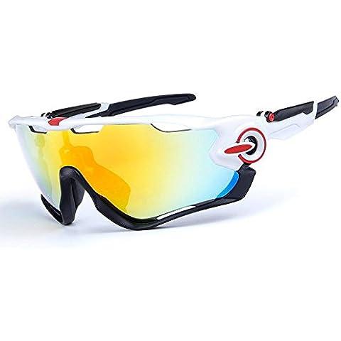 COOLLINE Conducción al aire libre polarizado deporte ocio material playa gafas de sol/gafas de gafas/PC, contiene cinco variedad de lentes de decoración , 2subsection