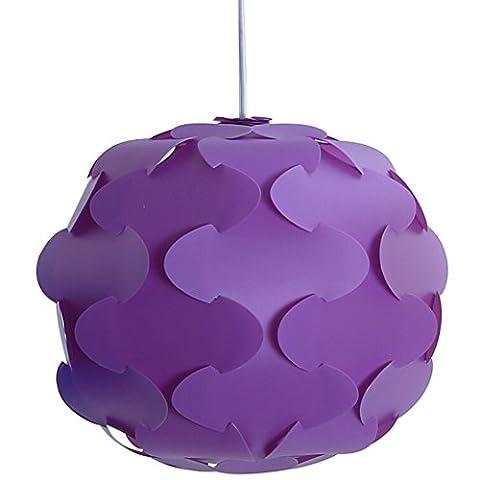 GZQ Ceiling Lamp Shade - Modern DIY Pendant Jigsaw Shade Decoration for Home Hotel Bedroom Bathroom Kitchen Dining Room Hallway Porch Garage Patio (12pcs) (S, Purple)