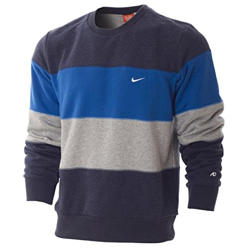 Nike Ath Dep. Triband Crew Neck, Blau/Grau, Gr. S Athletic Dept Sweatshirt
