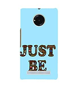 EPICCASE Just Be Mobile Back Case Cover For YU YUNIQUE (Designer Case)