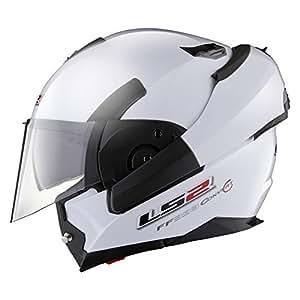 LS2 FF393 Convert Solid Flip-up Helmet with Sun Visor (Black, L)