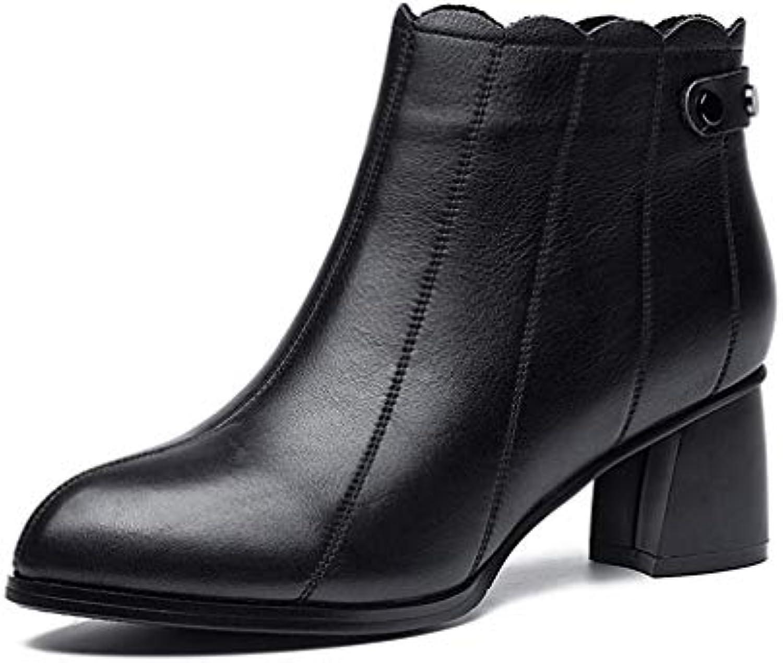 YAN Bottines pour Femmes, Bottes en Cuir à la Mode Martin, pour Dames, Talons Hauts, Bottes Martin, Mode Chaussures de Marche...B07KHRMP2WParent f7873e