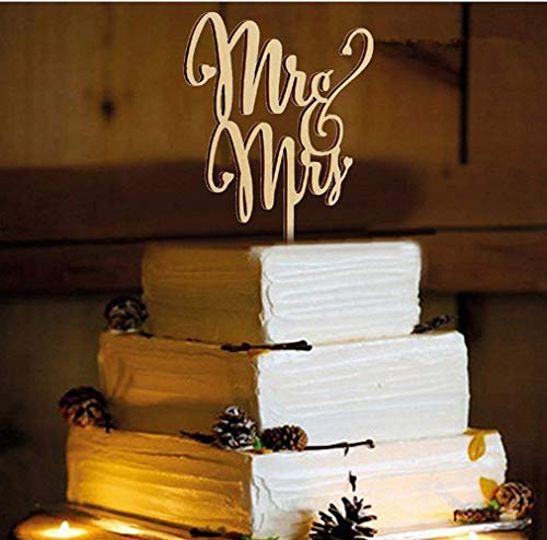 Herr und Frau Cake Toppers, natur Holz Hochzeit Tortenaufsatz Party hausgemachten Kuchen Deko Hochzeit Party Supplies - a -