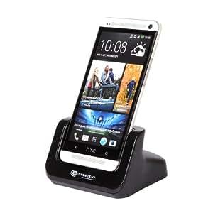 Decrescent Premium Desktop Docking and Charging Station for HTC One - Black