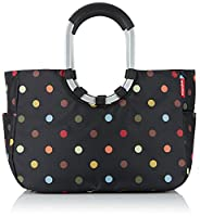 Reisenthel Loopshopper L, Big Shopping Bag, Basket for Shopping, Black with Dots, OR7009