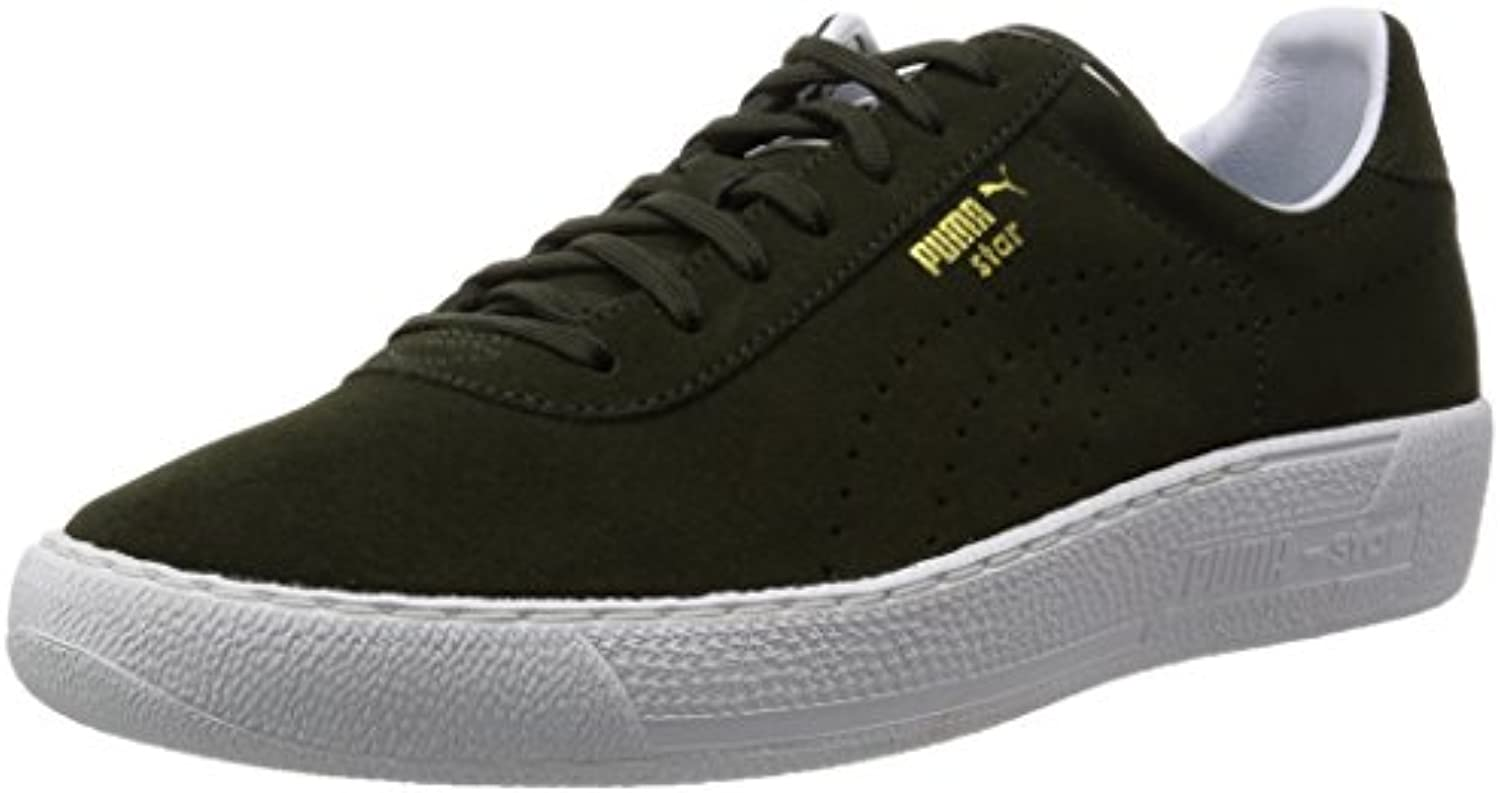 Puma Star Allover Allover Allover Suede Leather Sneaker Men Trainers Green 359393 02 8c4660