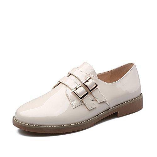 spring fashion Lady shoes/Joker de l'école de talon de loisirs en cuir verni chaton A