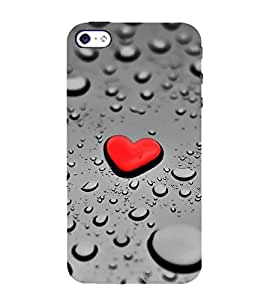 FUSON Water Heart Drop 3D Hard Polycarbonate Designer Back Case Cover for Apple iPhone SE