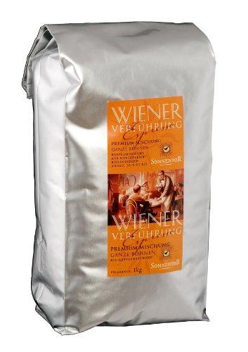 Sonnentor Espresso ganze Bohne Wiener Verführung Premium-Mischung, 1er Pack (1 x 1 kg) - Bio