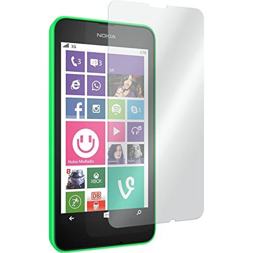 PhoneNatic 2 x Glas-Folie klar kompatibel mit Nokia Lumia 635 - Panzerglas für Nokia Lumia 635
