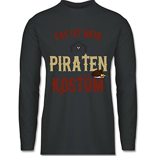 Karneval & Fasching - Das ist Mein Piraten Kostüm - XL - Dunkelgrau - BCTU005 - Herren Langarmshirt