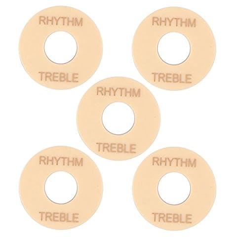 Sharplace Lot de 5pcs Rondelle Anneau d'Interrupteur à 3 Voies Pièces de Remplacement pour LP Guitare Electrique - # 2